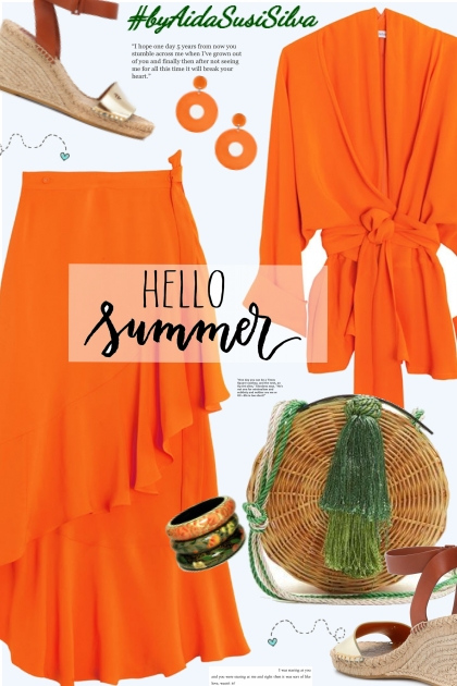 Orange for summer.