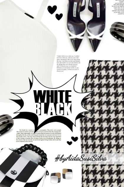 Love black and white!
