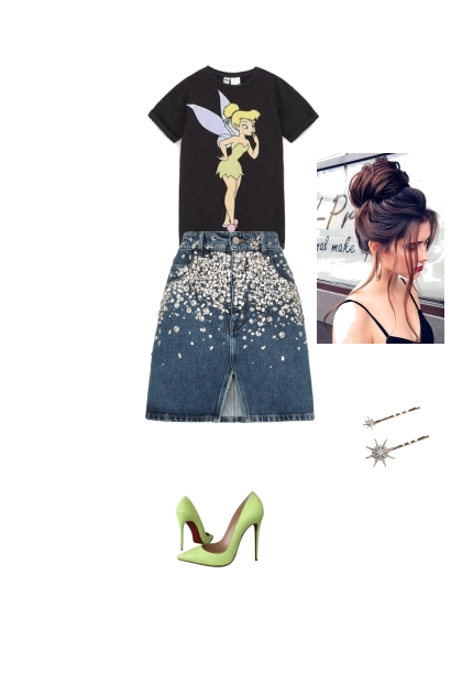 tinkerbell inspired- Fashion set