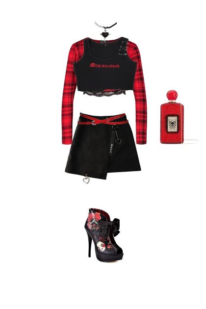 red/black poisoned heart