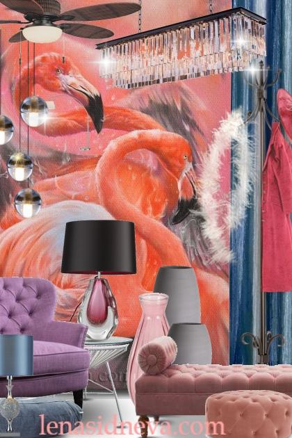 Интерьер фламинго