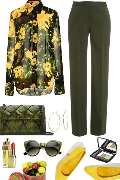 Желто- зелёный контраст