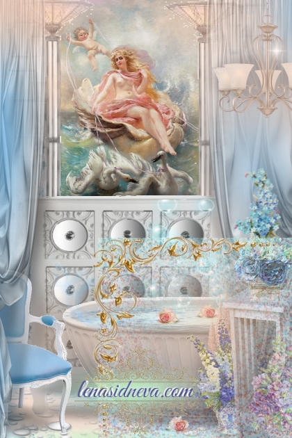 Афродита ванная со стеклом