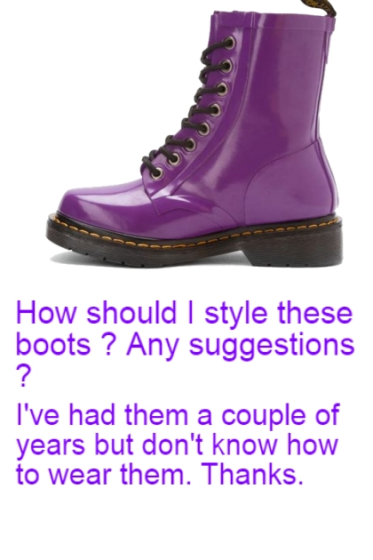 ADVICE ON BOOTS (Ask Advice Doesn't Work)