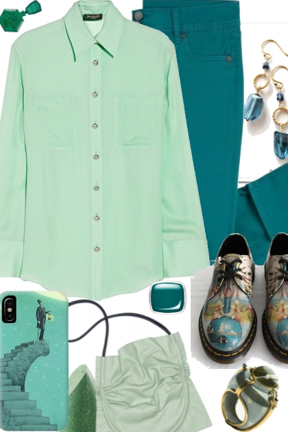 TURQUOISE AND PASTEL GREEN