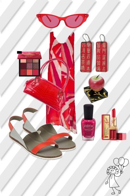 RED HOT MAXI DRESS
