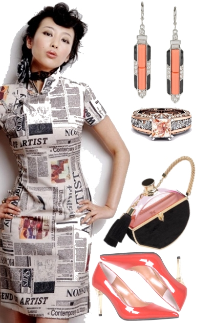 NEWSPRINT DRESS