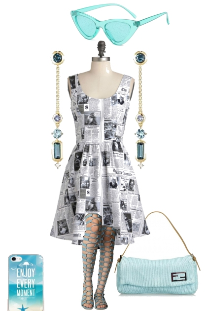NEWSPRINT SUMMER DRESS