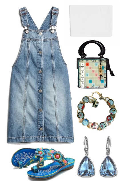 TUBE TOP WITH JEAN DRESS