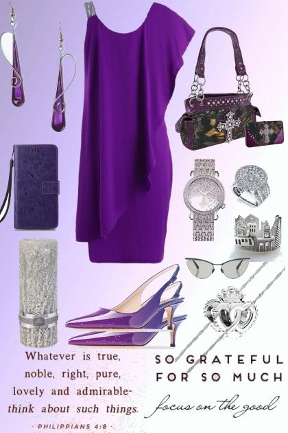 PURPLE ASYM DRESS