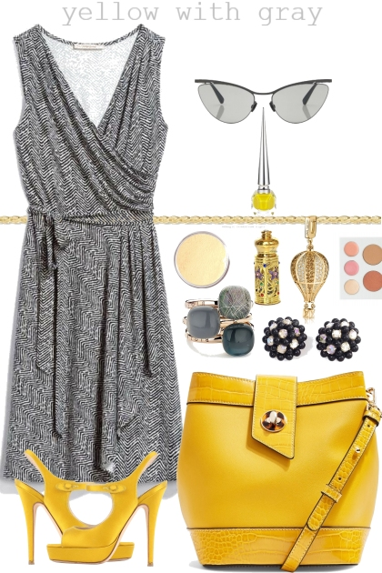 YELLOW WITH GRAY <3