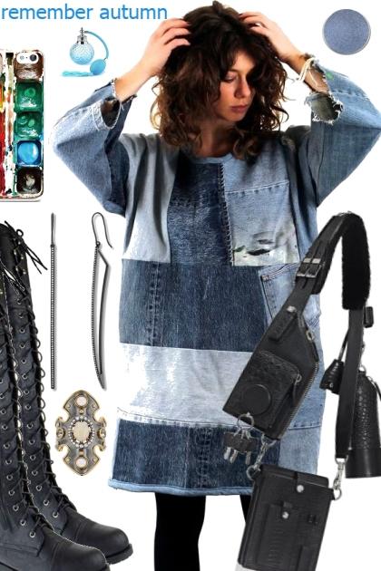 DENIM AUTUMN DRESS