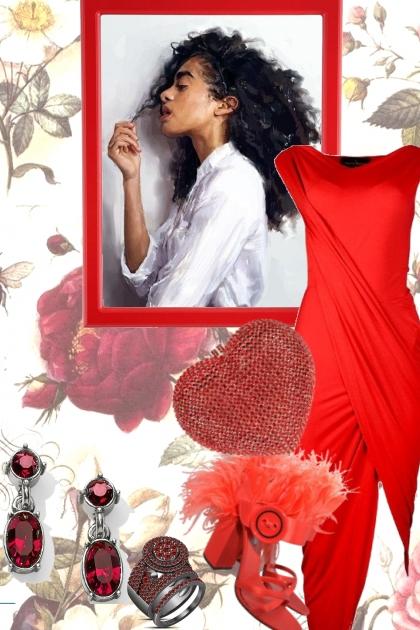 RED DRESS DANCE- Modna kombinacija
