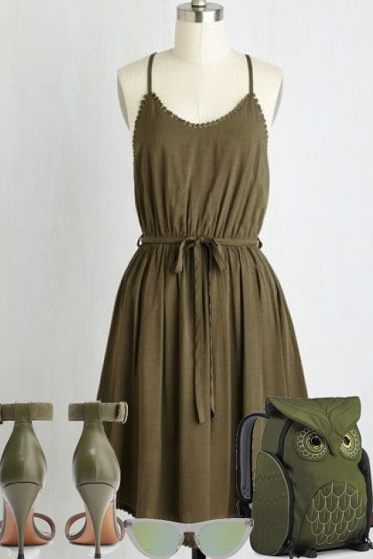 SEE THE ARMY GREEN DRESS