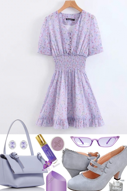 SWEET PURPLE DRESS ON TREND ME