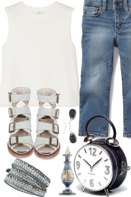 BLUE JEANS AND WHITE TANK