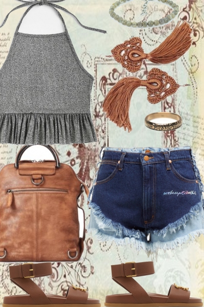 HIP : HALTER AND FRINGED CUT OFFS