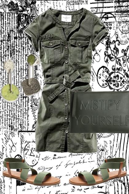 *ARMY GREEN SUMMER DRESS