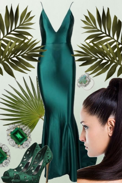 GREEN SATIN SOFT