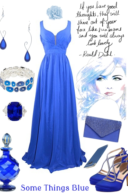 BLUE DRESS ON TREND ME
