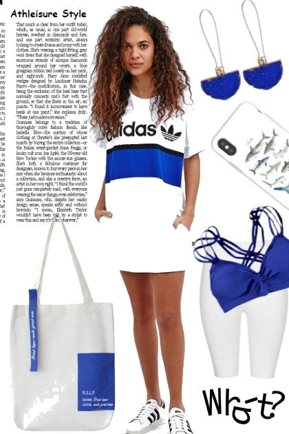 ATHLEISURE BLUE AND WHITE- Combinazione di moda