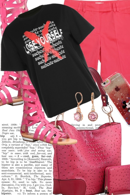 TREND ME TEE WITH PINK SHORTS