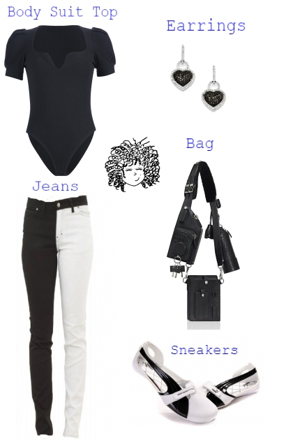 TREND ME BODY SUIT TOP WITH JEANS