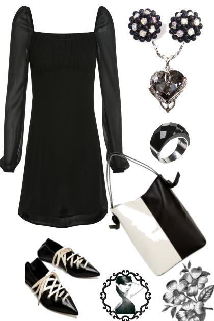 "BLACK DRESS ON TREND ME ""'"""