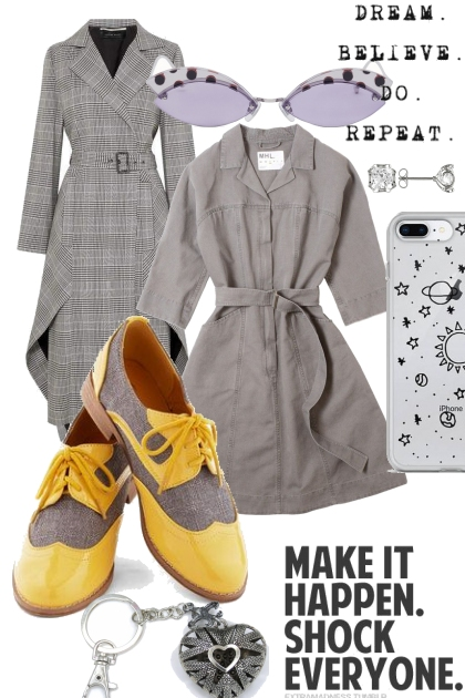 TREND ME COAT, DRESS, SHADES and SHOES