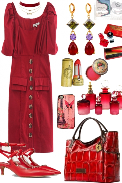 """RED DRESS ON TREND ME """"' `"""