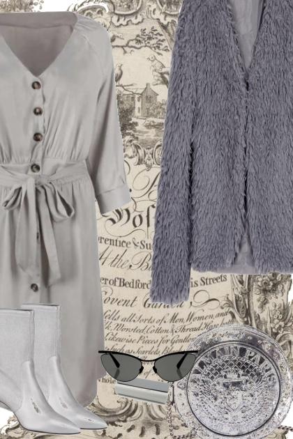 SHADES. OF. GRAY.- combinação de moda