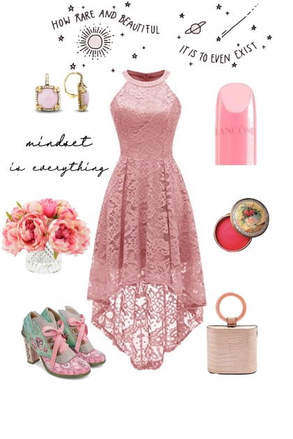 """PINK DRESS ON TREND ME """"'"""