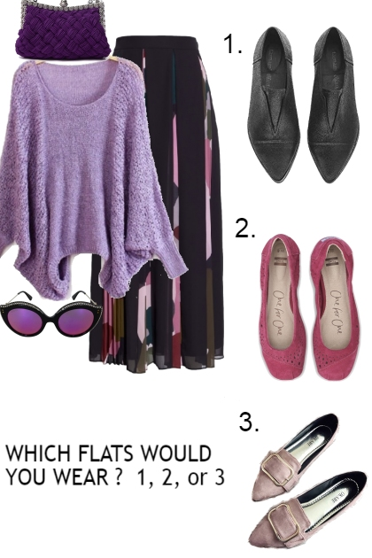 CHOOSE THE FLATS FOR THIS OUTFIT- Fashion set
