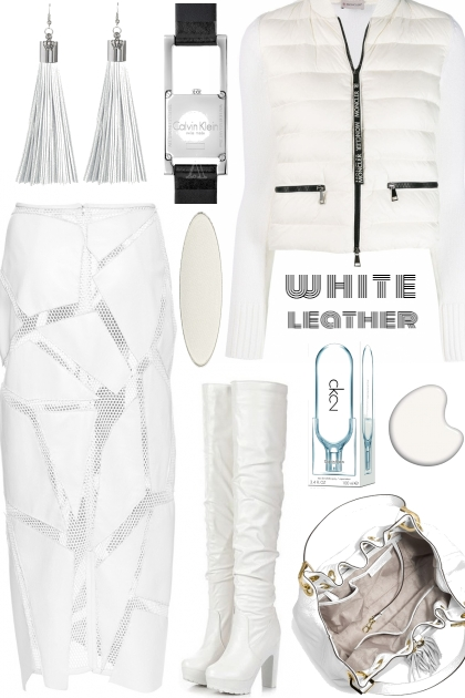 WHITE LEATHER OUTFIT