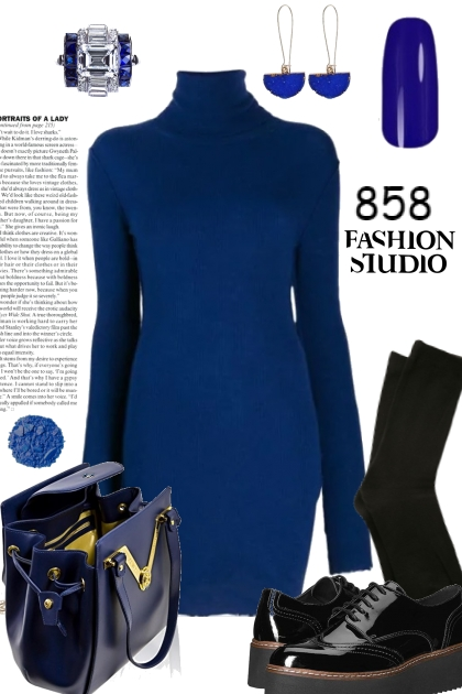 ROYAL BLUE SWEATER DRESS 11719