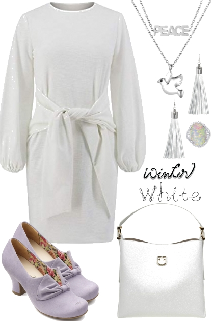 { WINTER WHITE DRESS }
