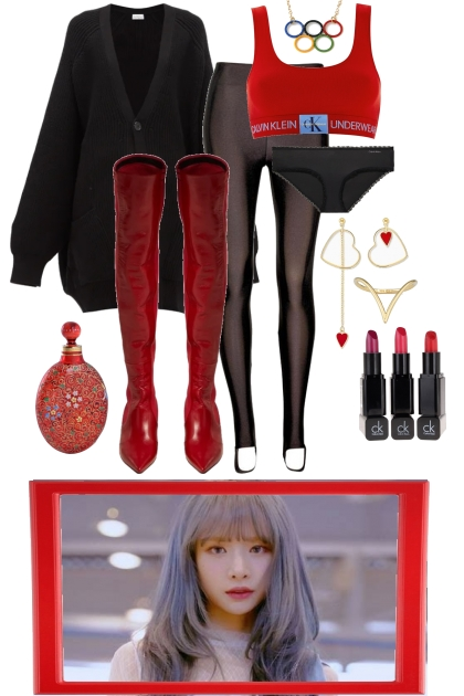 OVER THE KNEE RED BOOTS