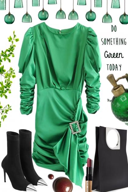 GREEN ` DRESS