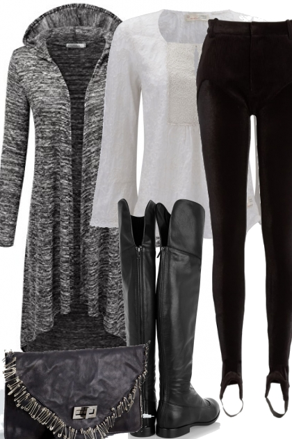 GRAY HEATHER CARDIGAN ON TREND ME