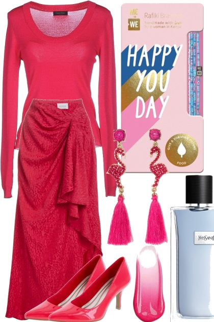 TREND ME SKIRT ~ HOT PINK