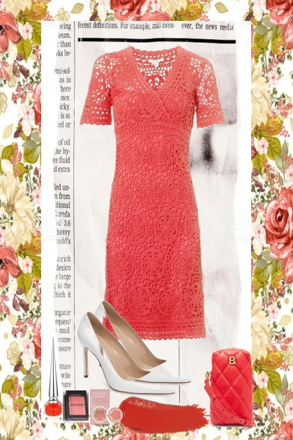 CORAL CROCHETED DRESS 2020
