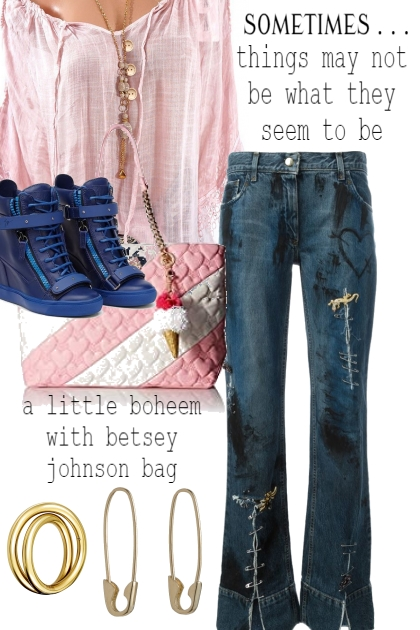 BETSEY JOHNSON BAG WITH ICE CREAM CONE FOB