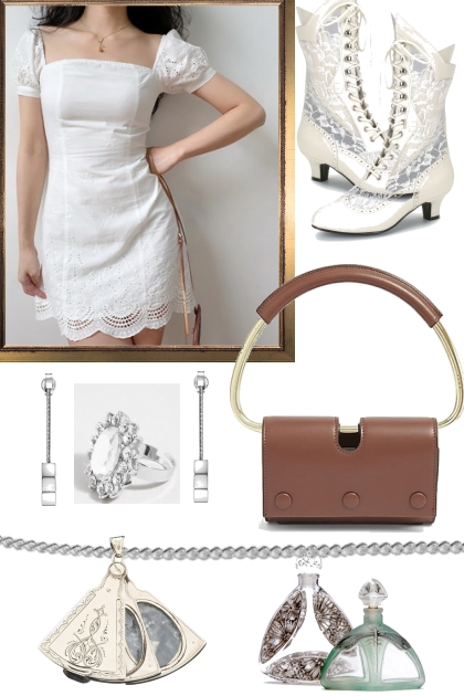 HAPPY EASTER TREND ME WHITE DRESS
