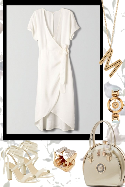 WHITE WRAP AROUND DRESS FOR SUMMER 2020