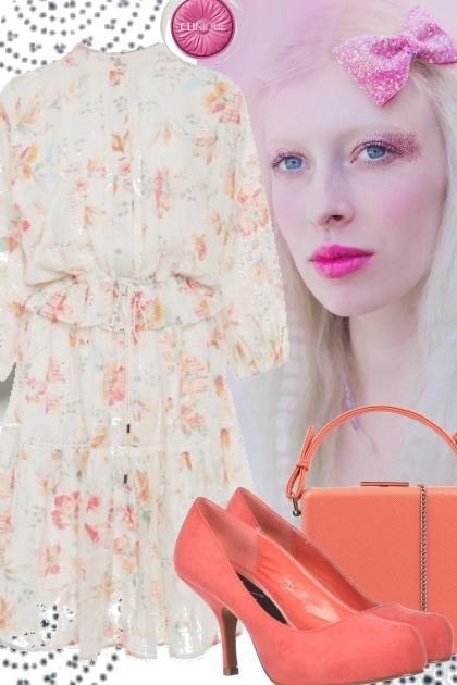 SPRING FLORAL DRESS 2020:`~