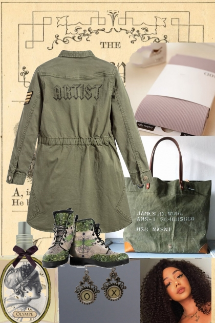 ON THE SCENE WITH ARMY GREEN  ~WINTER 2020