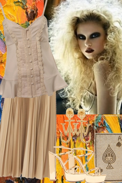 CAMI AND PLEATED SKIRT