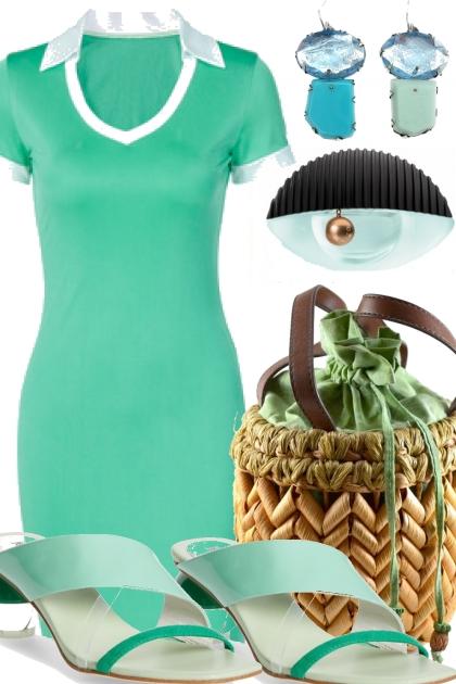 TREND ME MINT GREEN DRESS