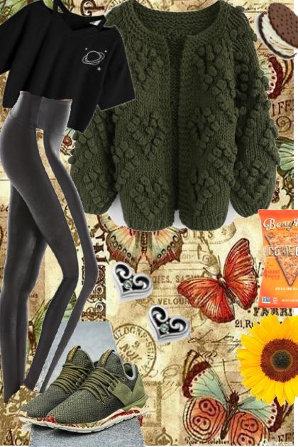 COMFORT ZONE : CARDIGAN AND LEGGINGS - Fashion set