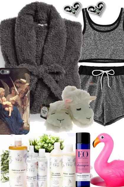 COZY ROBE AND LAMBCHOP SLIPPERS